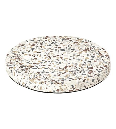 BROSTE Iben terrazzo stone candle plate
