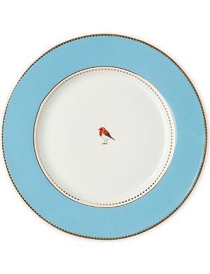 LOVE BIRDS Love birds dinner plate blue 26.5cm