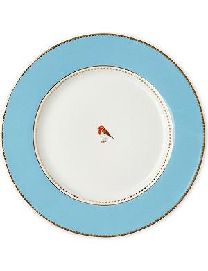 LOVE BIRDS Love birds dinner plate blue 26.5cm