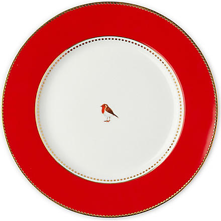 LOVE BIRDS Love birds dinner plate red 26.5cm