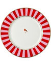 LOVE BIRDS Love birds dinner plate red⁄pink stripe 26.5cm