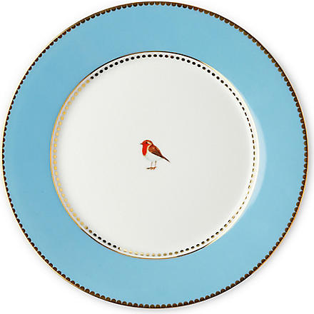 LOVE BIRDS Love birds plate blue 21cm