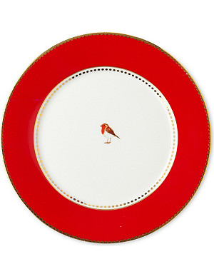 LOVE BIRDS Love birds plate red 21cm