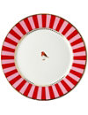LOVE BIRDS Love birds plate red⁄pink stripe 21cm