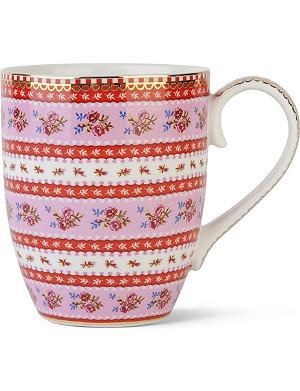 PIP STUDIO Large pink ribbon rose mug