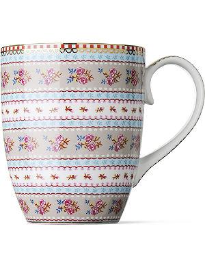 PIP STUDIO Large khaki ribbon rose mug