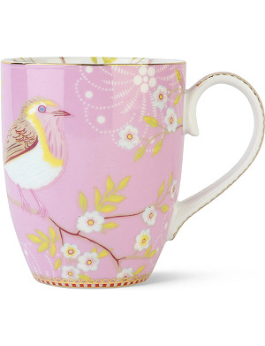 PIP STUDIO Large pink early bird mug