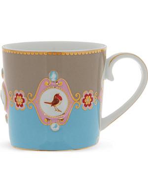 LOVE BIRDS Love birds blue⁄khaki senseo mug small