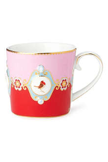 LOVE BIRDS Love birds red⁄pink senseo mug small