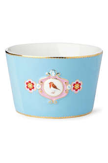 PIP STUDIO Love birds bowl blue medallion 12.5cm