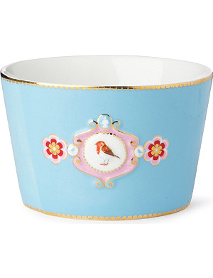 LOVE BIRDS Love birds bowl blue medallion 12.5cm