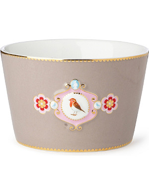 LOVE BIRDS Love birds bowl khaki medallion 12.5cm