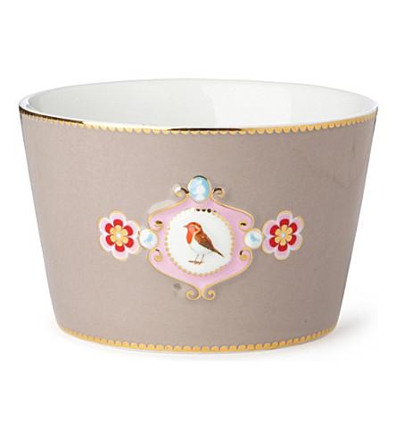 LOVE BIRDS Love birds bowl khaki medallion 12.5cm