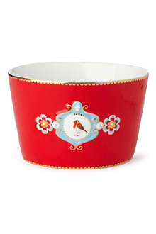 PIP STUDIO Love birds bowl red medallion 12.5cm
