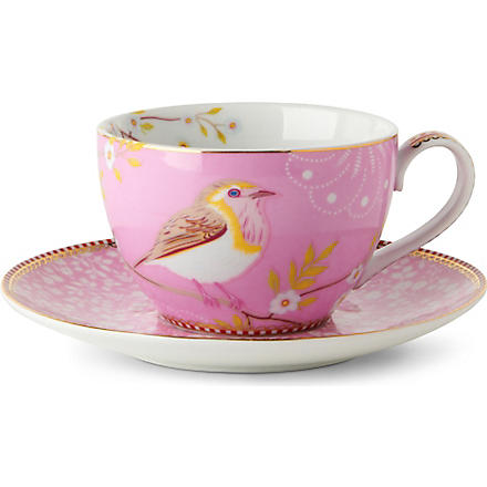 PIP STUDIO Pink tea cup and saucer