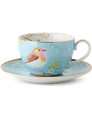 PIP STUDIO Blue tea cup and saucer