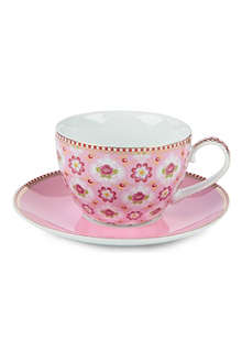 PIP STUDIO Blossom Cappuccino cup and saucer