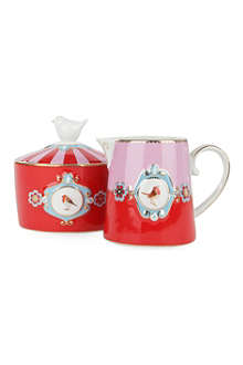 PIP STUDIO Love Bird milk jug and sugar bowl set