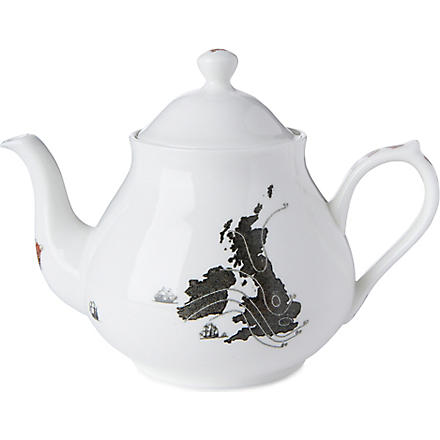 ALI MILLER UK map teapot