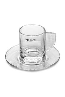 SERAX Glass espresso cup and saucer