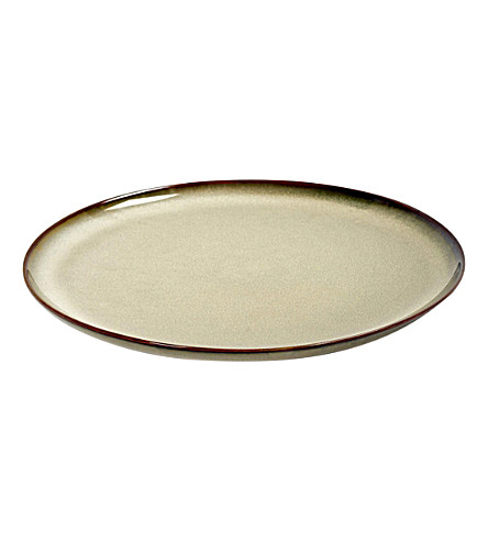 SERAX D22 stoneware plate in misty grey