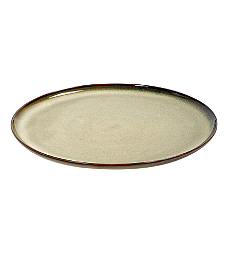 SERAX D26 stoneware plate in misty grey