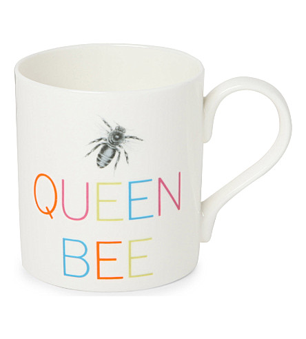 GARY BIRKS Queen Bee slogan mug