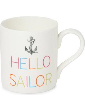 GARY BIRKS Hello Sailor slogan mug
