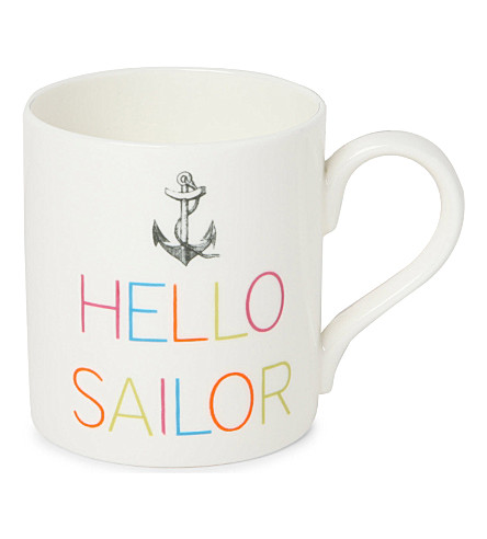 GARY BIRKS Hello Sailor slogan mug