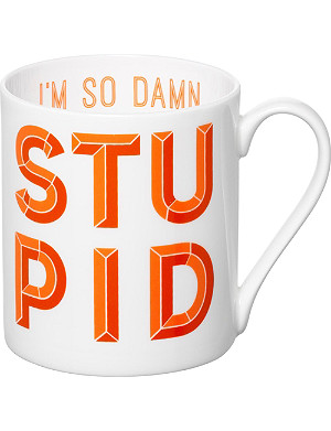 GARY BIRKS Damn Stupid mug