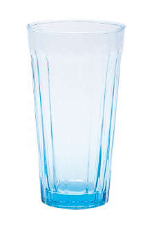 BITOSSI HOME Long drinking glass blue