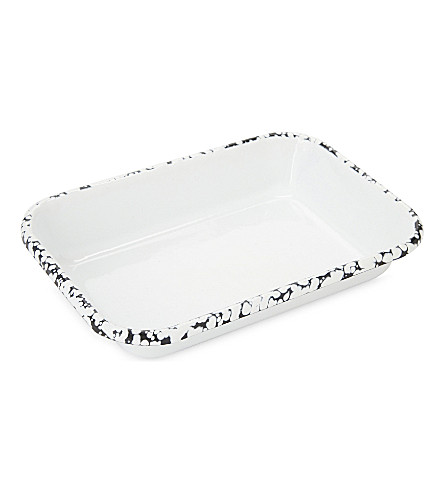 BORNN Monochrome splatter medium baking dish