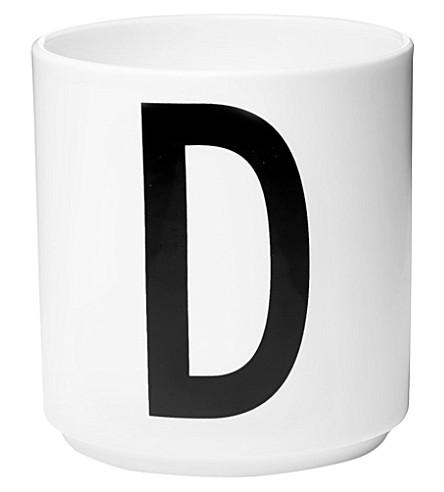 DESIGN LETTERS D porcelain cup