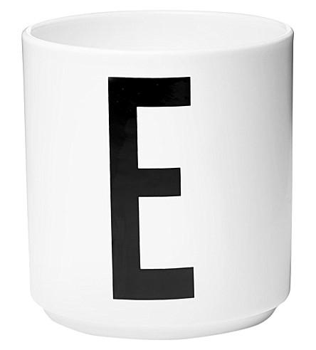 DESIGN LETTERS E porcelain cup