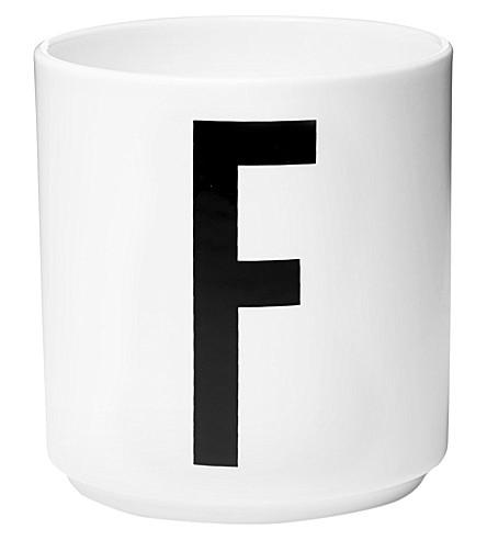 DESIGN LETTERS F porcelain cup