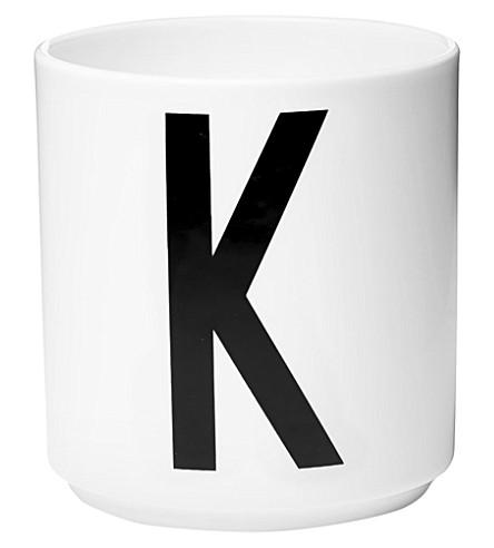 DESIGN LETTERS K porcelain cup
