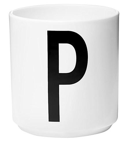 DESIGN LETTERS P porcelain cup