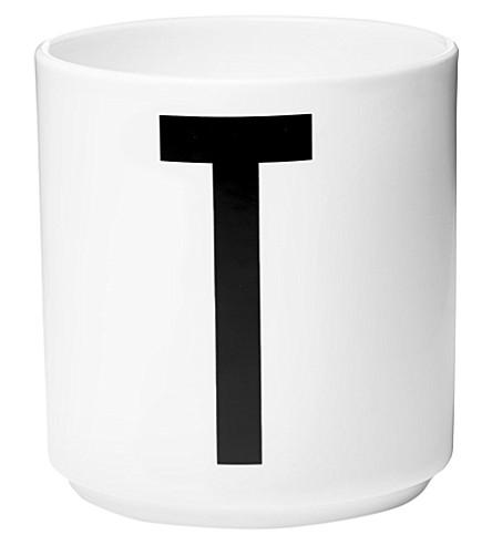 DESIGN LETTERS T porcelain cup
