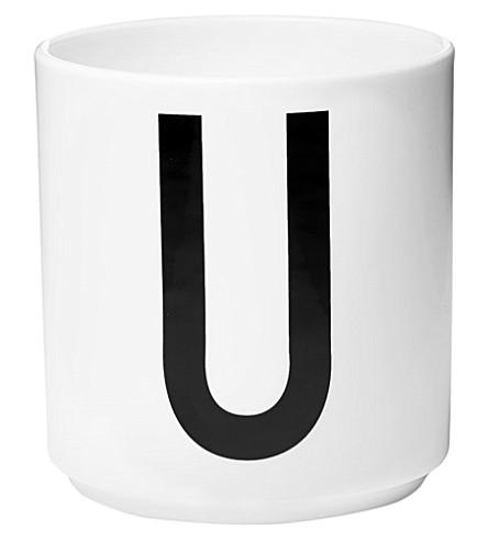 DESIGN LETTERS U porcelain cup