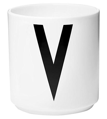 DESIGN LETTERS V porcelain cup