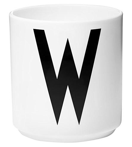DESIGN LETTERS W porcelain cup