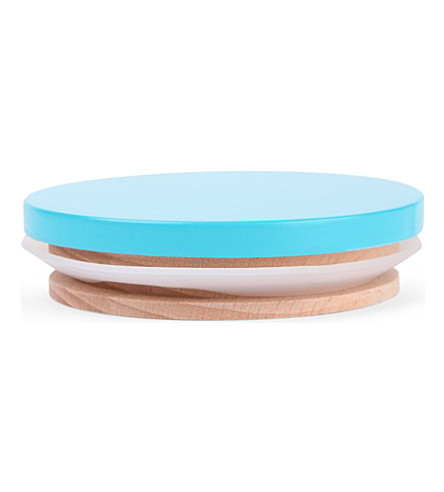 DESIGN LETTERS Arne Jacobson turquoise wooden lid