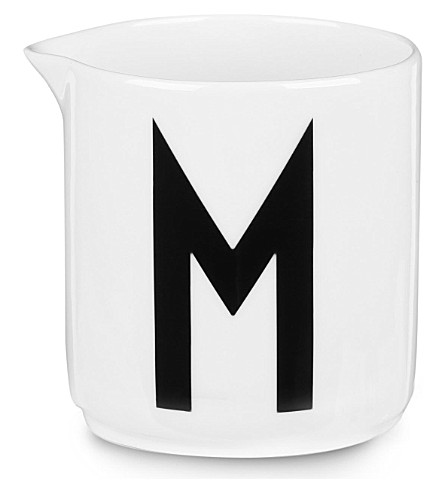DESIGN LETTERS M china milk jug