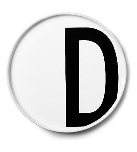 DESIGN LETTERS D porcelain plate