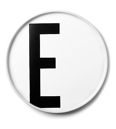 DESIGN LETTERS E porcelain plate