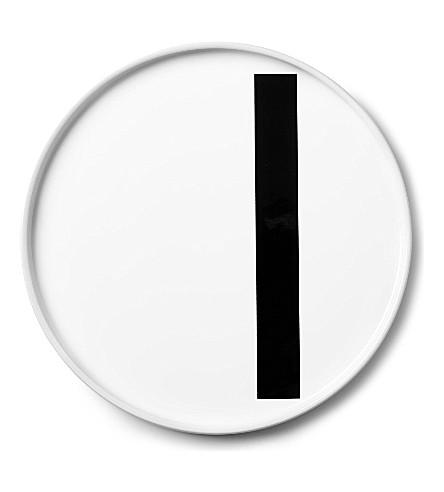 DESIGN LETTERS I porcelain plate