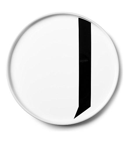 DESIGN LETTERS J porcelain plate