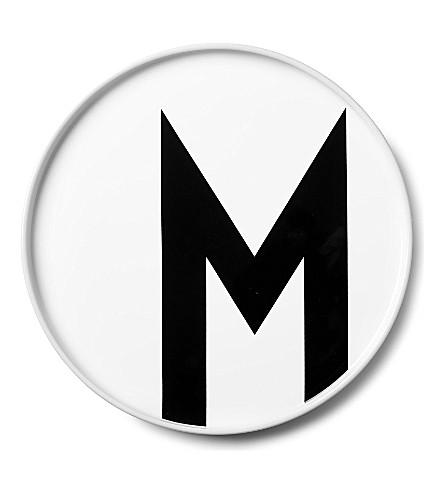 DESIGN LETTERS M porcelain plate
