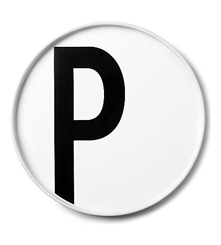 DESIGN LETTERS P porcelain plate