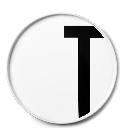 DESIGN LETTERS T porcelain plate